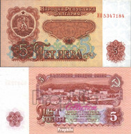 Bulgarien Pick-Nr: 95b Bankfrisch 1974 5 Leva - Bulgarien