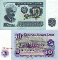Bulgarien Pick-Nr: 96a Bankfrisch 1974 10 Leva - Bulgarien
