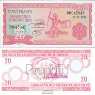 Burundi Pick-Nr: 27d (2003) Bankfrisch 2003 20 Francs - Burundi