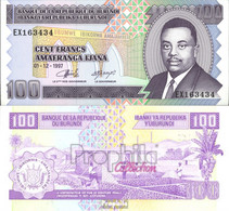 Burundi Pick-Nr: 37b Bankfrisch 1997 100 Francs - Burundi