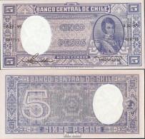 Chile Pick-Nr: 119 Bankfrisch 1958 5 Pesos - Chile