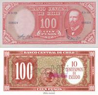 Chile Pick-Nr: 127a Bankfrisch 1960 100 Pesos - Chile