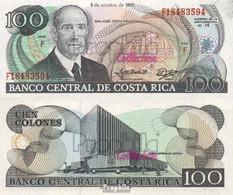 Costa Rica Pick-Nr: 254a (1990) Bankfrisch 1990 100 Colones - Costa Rica