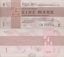 DDR Rosenbg: 368a Forumscheck Zum Erwerb Von Ausländischen Waren Bankfrisch 1979 1 Mark - [ 6] 1949-1990 : GDR - German Dem. Rep.