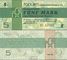 DDR Rosenbg: 369a, Forumscheck Zum Erwerb Ausländischer Waren Bankfrisch 1979 5 Mark - [ 6] 1949-1990 : RDA - Rep. Dem. Tedesca