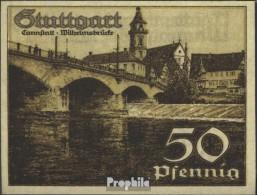 Stuttgart Notgeld: 1289.1a) D Notgeld Der Stadt Stuttgart Bankfrisch 1921 50 Pfennig Stuttgart - [11] Lokale Uitgaven