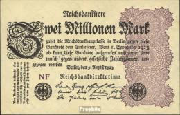 Deutsches Reich Pick-Nr: 103d Wz. Gitter Mit 8 Bankfrisch 1923 2 Millionen Mark - 2 Millionen Mark