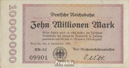 Berlin Pick-Nr: S1014 Inflationsgeld Der Deutschen Reichsbahn Berlin Gebraucht (III) 1923 10 Millionen Mark - [ 3] 1918-1933 : Weimar Republic