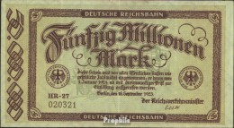 Berlin Pick-Nr: S1016 Inflationsgeld Der Deutschen Reichsbahn Berlin Gebraucht (III) 1923 50 Millionen Mark - [ 3] 1918-1933: Weimarrepubliek