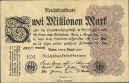 Deutsches Reich RosbgNr: 103a Wz. Hakensterne Bankfrisch 1923 2 Millionen Mark - [ 3] 1918-1933 : Repubblica  Di Weimar