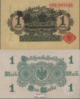 Deutsches Reich RosbgNr: 51b, Ohne Unterdruck Dunkelgrün Bankfrisch 1914 1 Mark - [ 2] 1871-1918 : Duitse Rijk