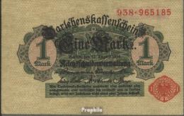Deutsches Reich RosbgNr: 51c, Mit Unterdruck Rotes Siegel Bankfrisch 1914 1 Mark - [ 2] 1871-1918 : Duitse Rijk
