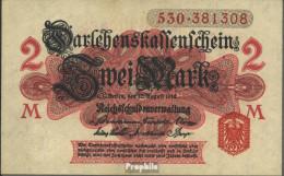Deutsches Reich RosbgNr: 52b Ohne Unterdruck Siegel Rot, Serie: 476-615 Bankfrisch 1914 2 Mark - [ 2] 1871-1918 : Duitse Rijk