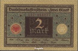 Deutsches Reich RosbgNr: 65a Braun Bankfrisch 1920 2 Mark - 2 Mark