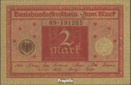 Deutsches Reich RosbgNr: 65b, Rote Druckfarbe Braunes Siegel Bankfrisch 1920 2 Mark - 2 Mark