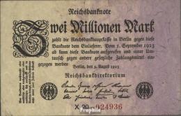 Deutsches Reich Rosenbg: 102b, Privatfirmendruck Schwarzes Firmenzeichen Bankfrisch 1923 2 Millionen Mark - 2 Millionen Mark
