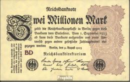 Deutsches Reich Rosenbg: 103c Wz. Ringe Bankfrisch 1923 2 Mio. Mark - [ 3] 1918-1933 : Repubblica  Di Weimar