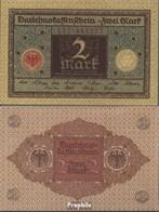 Deutsches Reich Rosenbg: 65a, Druckfarbe Braun, Rotes Siegel Gebraucht (III) 1920 2 Mark - 2 Mark