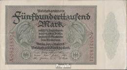 Deutsches Reich Rosenbg: 87b, Reichsdruckerei 8stellige Kontrollnummer Gebraucht (III) 1923 500.000 Mark - [ 3] 1918-1933 : Weimar Republic