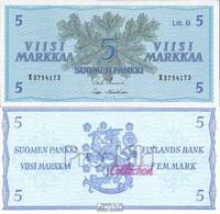 Finnland Pick-Nr: 106Aa Bankfrisch 1963 5 Markkaa - Finland
