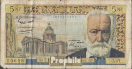 Frankreich Pick-Nr: 141 (1960), Gelocht Stark Gebraucht (IV) 1960 5 Nouveaux Francs - Schatzamt