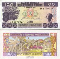 Guinea 30a Bankfrisch 1985 100 Francs - Guinea