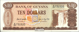 Guyana Pick-Nr: 23d Bankfrisch 1989 10 Dollars - Guyana Francese