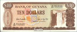 Guyana Pick-Nr: 23d Bankfrisch 1989 10 Dollars - Guyana Francesa