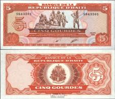 Haiti Pick-Nr: 255a Bankfrisch 1989 5 Gourdes - Haïti
