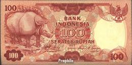 Indonesien Pick-Nr: 116 Bankfrisch 1977 100 Rupiah Nashorn - Indonesien