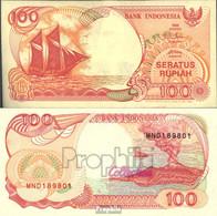 Indonesien Pick-Nr: 127d Bankfrisch 1995 100 Rupiah Segelschiff - Indonesien