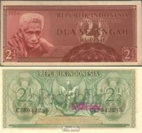 Indonesien Pick-Nr: 75 Bankfrisch 1956 2 1/2 Rupiah - Indonesien