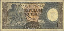 Indonesien Pick-Nr: 89 Bankfrisch 1963 10 Rupiah - Indonesien