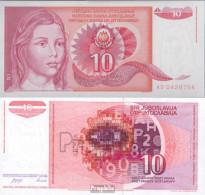 Jugoslawien Pick-Nr: 103 Bankfrisch 1990 10 Dinara - Jugoslawien