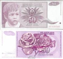 Jugoslawien Pick-Nr: 104 Bankfrisch 1990 50 Dinara - Jugoslawien