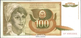 Jugoslawien Pick-Nr: 105 Bankfrisch 1990 100 Dinara - Jugoslavia