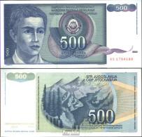 Jugoslawien Pick-Nr: 106 Bankfrisch 1990 500 Dinara - Jugoslawien
