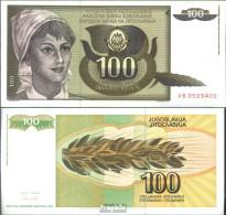 Jugoslawien Pick-Nr: 108 Bankfrisch 1991 100 Dinara - Jugoslawien