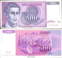 Jugoslawien Pick-Nr: 113 Bankfrisch 1992 500 Dinara - Jugoslawien