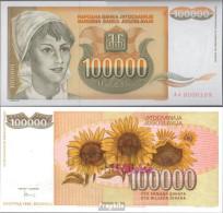 Jugoslawien Pick-Nr: 118 Bankfrisch 1993 100 000 Dinara - Jugoslawien