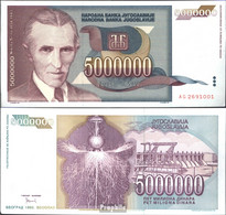 Jugoslawien Pick-Nr: 121 Bankfrisch 1993 5 Mio. Dinara - Jugoslawien