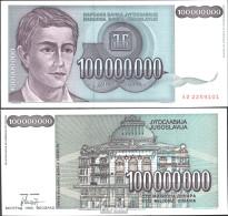 Jugoslawien Pick-Nr: 124 Bankfrisch 1993 100 Mio. Dinara - Jugoslawien