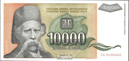 Jugoslawien Pick-Nr: 129 Bankfrisch 1993 10.000 Dinara - Jugoslavia