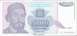 Jugoslawien Pick-Nr: 130 Bankfrisch 1993 50.000 Dinara - Jugoslawien