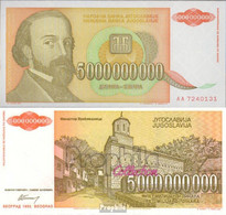 Jugoslawien Pick-Nr: 135a Bankfrisch 1993 5 Mrd. Dinara - Jugoslawien