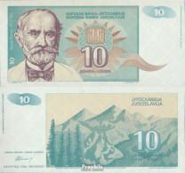 Jugoslawien Pick-Nr: 138a Bankfrisch 1994 10 Dinara - Jugoslawien
