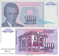 Jugoslawien Pick-Nr: 139a Bankfrisch 1994 100 Dinara - Jugoslawien