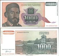 Jugoslawien Pick-Nr: 140a Bankfrisch 1994 1.000 Dinara - Jugoslawien