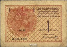 Jugoslawien Pick-Nr: 15 Gebraucht (III) 1919 4 Kronen On 1 Dinar - Jugoslawien