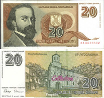 Jugoslawien Pick-Nr: 150 Bankfrisch 1994 20 Novih Dinara - Jugoslawien